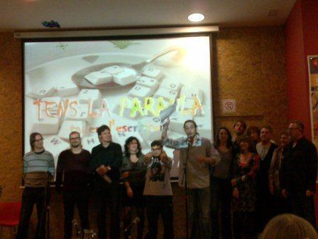 Imatge de tots els participants en la vetllada
