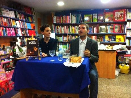 """Sabina Canals i David Izquierdo, a la presentació de """"Tots els noms de Barcelona"""""""