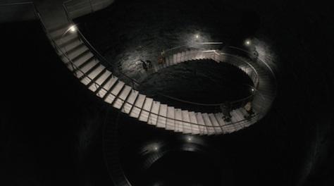 Estas son las escaleras por las que se accede a las puertas del tiempo