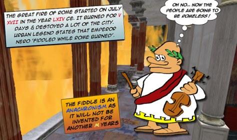 Incendio Roma Neron