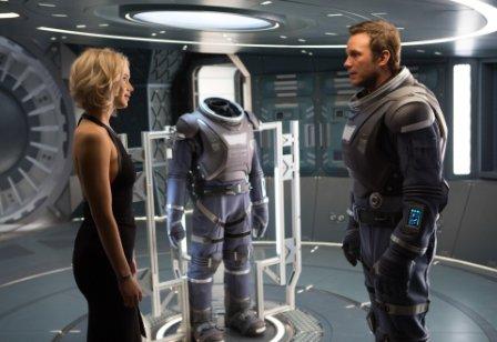 Jennifer Lawrence y Chris Pratt, en un fotograma de la película