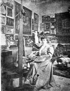 La pintora Emília Coranty i Llurià