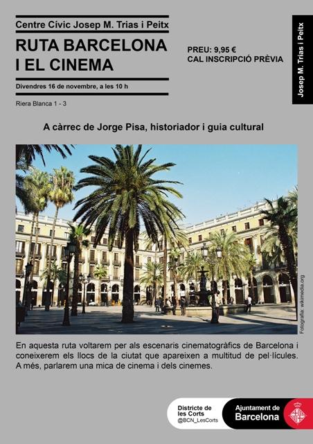 Cartell ruta barcelona i el cinema_CC Trias i Peitx