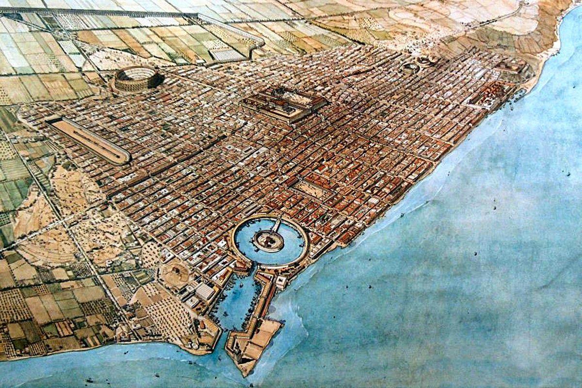 Ciudad romana de Cartago en el siglo II dC