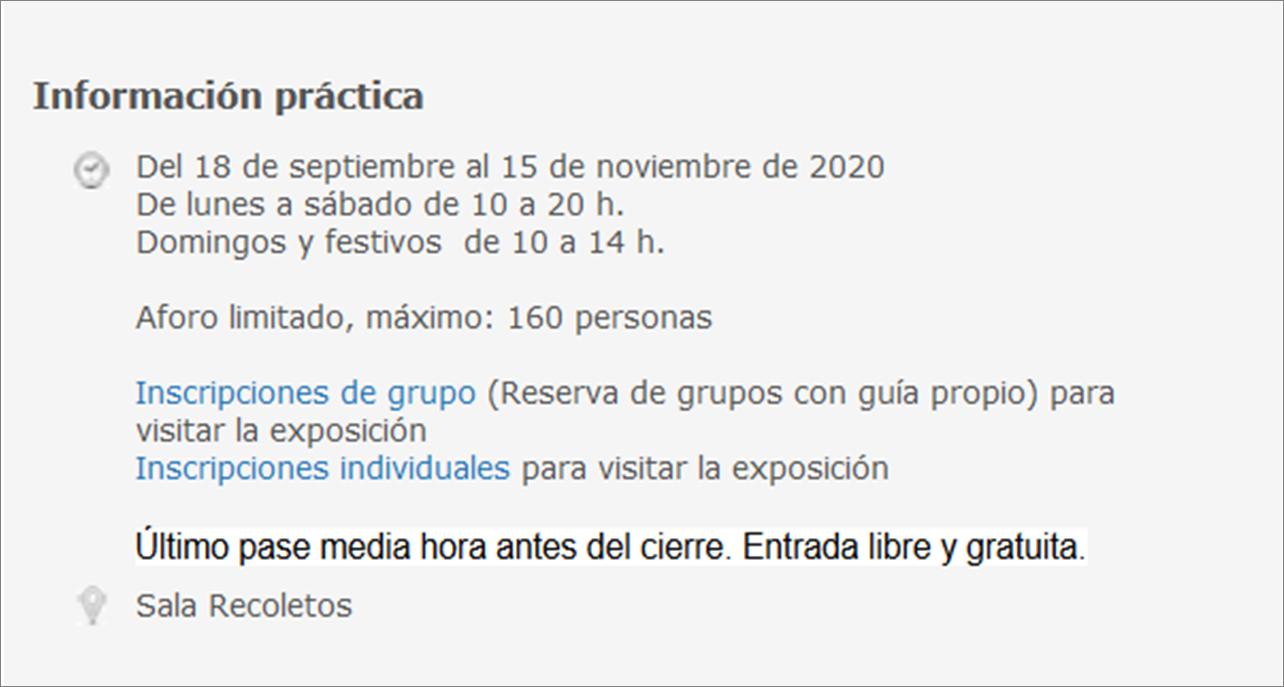 Información practica_Exposicion Delibes_Biblioteca Nacional