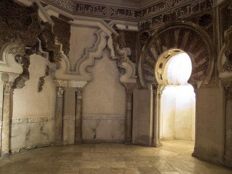 Palacio de la Aljafería_Oratorio_nicho del mihrab